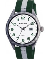 Buy Kahuna Mens White Blue Canvas Strap Watch online