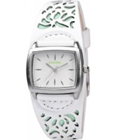 Buy Kahuna Ladies White and Green Cuff Watch online