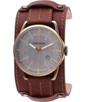 Buy Kahuna Mens Brown Cuff Watch online