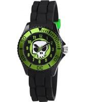 Buy Tikkers Boys Black Skull Watch online
