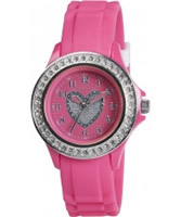 Buy Tikkers Girls Pink Stone Set Heart Watch online