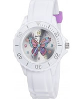 Buy Tikkers Girls White Glitter Butterfly Watch online