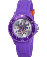 Buy Tikkers Girls Purple Glitter Flower Watch online