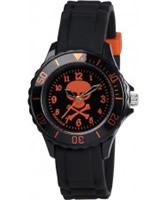 Buy Tikkers Boys Black Skull and Crossbones Watch online