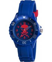 Buy Tikkers Boys Blue Skull and Crossbones Watch online