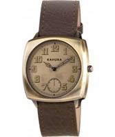 Buy Kahuna Mens Brown Gold Watch online