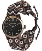 Buy Kahuna Mens Grey Woven Fabric Friendship Watch online
