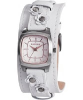 Buy Kahuna Ladies White Flower Detail Cuff Watch online