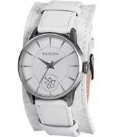 Buy Kahuna Ladies White Floral Pattern Strap Watch online