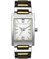 Buy French Connection Ladies Bailey Crystal Two Tone Steel Watch online