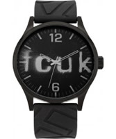 Buy French Connection Mens All Black Silicone Watch online