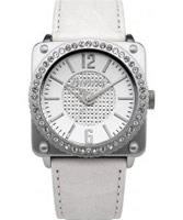 Buy Firetrap Ladies Stone Set White Watch online