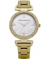 Buy French Connection Ladies Gold Crystal Watch online