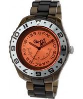 Buy Gio Goi Mens Orange Black Plastic Watch online