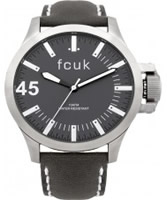 Buy French Connection Mens Fcuk Grey Leather Watch online