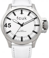 Buy French Connection Mens Fcuk All White Leather Watch online