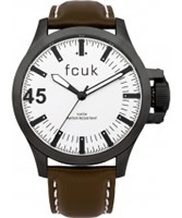 Buy French Connection Mens Fcuk White and Brown Watch online