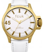 Buy French Connection Mens Fcuk White Leather Watch online