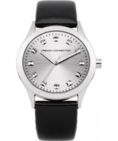 Buy French Connection Ladies Silver and Black Watch online