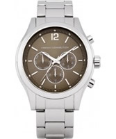 Buy French Connection Chronograph Mayfair Silver Brown Watch online