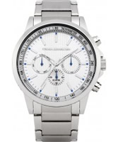 Buy French Connection Mens All Silver Chronograph Watch online