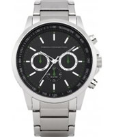Buy French Connection Mens Silver and Black Chronograph Watch online