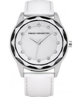 Buy French Connection Ladies Broadway Crystal White Watch online