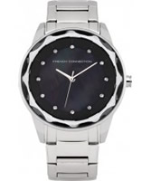 Buy French Connection Ladies Broadway Crystal Silver Watch online