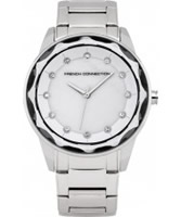 Buy French Connection Ladies Broadway Crystal Silver Bracelet Watch online