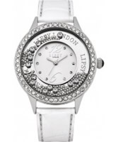 Buy Lipsy Ladies White Floating Stones Watch online
