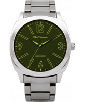 Buy Ben Sherman Mens Green and Silver Watch online