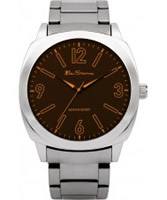 Buy Ben Sherman Mens Brown and Silver Watch online