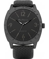 Buy Ben Sherman Mens All Black Leather Strap Watch online