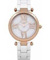 Buy Lipsy Ladies Rose Gold and White Watch online