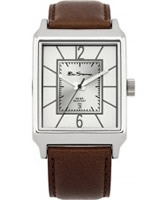 Buy Ben Sherman Mens Silver and Brown Watch online