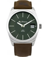 Buy Ben Sherman Mens Green and Brown Watch online