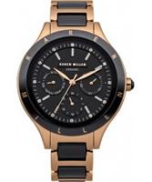 Buy Karen Millen Ladies Rose Gold Chronograph Watch online