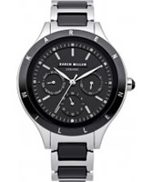 Buy Karen Millen Ladies Black Ceramic Chronograph Watch online