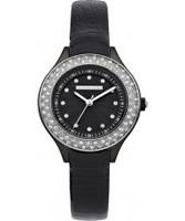 Buy Karen Millen Ladies Black Stone Set Watch online