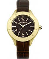 Buy Karen Millen Ladies Gold and Brown Watch online