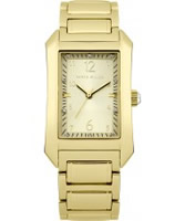 Buy Karen Millen Ladies Gold Stone Set Watch online