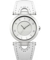 Buy Karen Millen Ladies White Leather Watch online