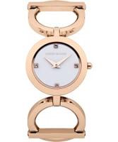 Buy Karen Millen Ladies Rose Gold Stone Set Watch online