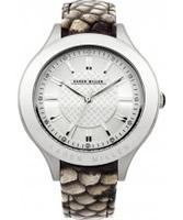 Buy Karen Millen Ladies Grey Leather Strap Watch online