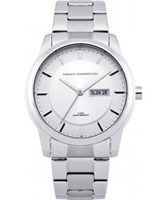 Buy French Connection Mens All Silver Steel Watch online