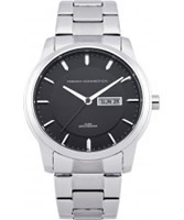 Buy French Connection Mens Silver Black Watch online