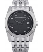 Buy French Connection Mens Black Silver Steel Watch online