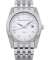 Buy French Connection Mens White Silver Steel Watch online