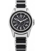 Buy Lipsy Ladies Silver and Black Bracelet Watch online