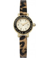 Buy Lipsy Ladies Gold and Animal Print Watch online
